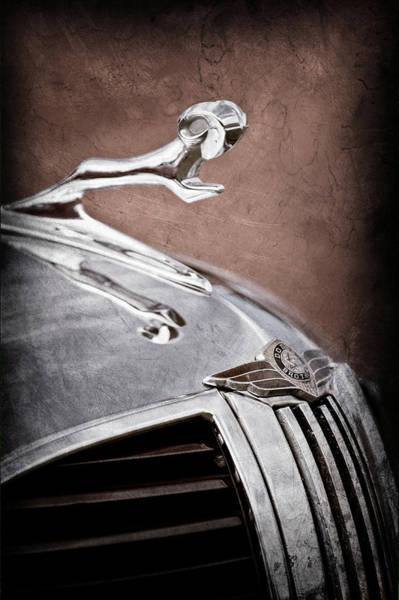 Wall Art - Photograph - 1938 Dodge Ram Grille - Hood Ornament -0299ac by Jill Reger