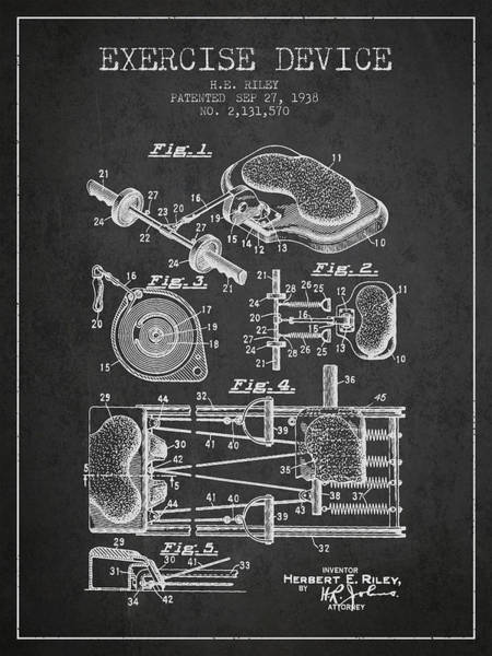1938 Exercise Device Patent Spbb09_cg Art Print