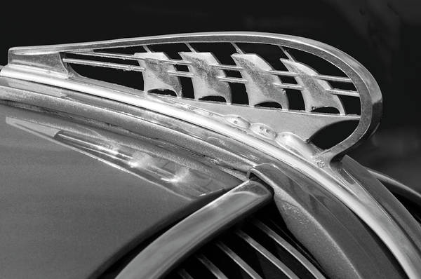 Hoodies Photograph - 1938 Plymouth Hood Ornament 2 by Jill Reger