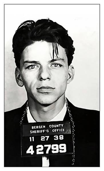 Wall Art - Digital Art - 1938 Young Frank Sinatra Mugshot by Daniel Hagerman