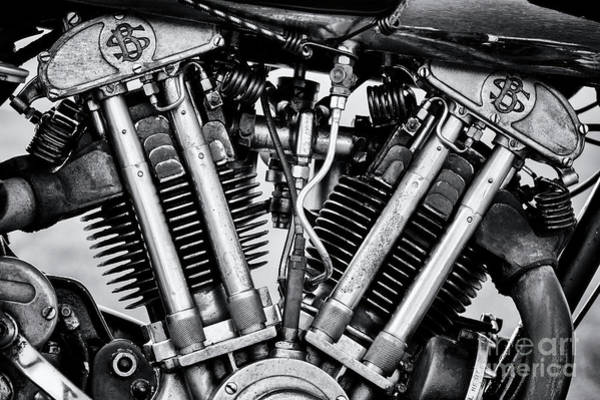 Photograph - 1939 Brough Superior Ss100 Engine by Tim Gainey