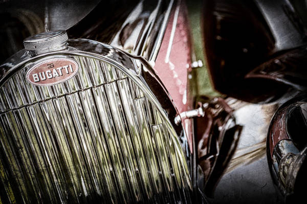 Photograph - 1939 Bugatti T57c Galibier Grille Emblem -0303ac by Jill Reger