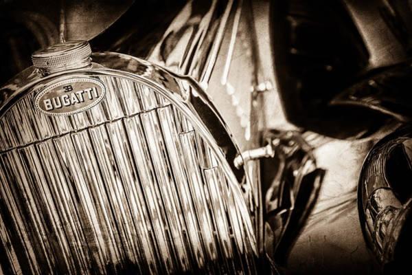 Photograph - 1939 Bugatti T57c Galibier Grille Emblem -0303s by Jill Reger
