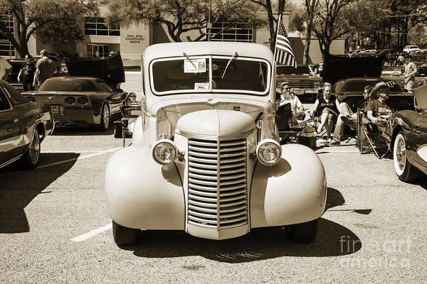 Photograph - 1939 Chevrolet Pickup Antique Car In Sepia Print Or Canvas Prints 3518.01 by M K Miller