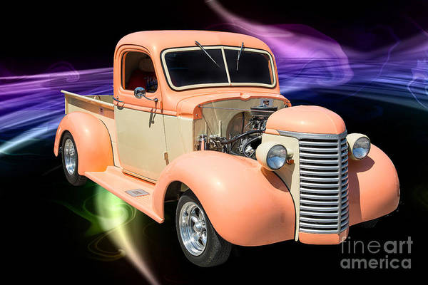Photograph - 1939 Chevrolet Pickup Antique Car In Color Print Or Canvas Print 3519.02 by M K Miller