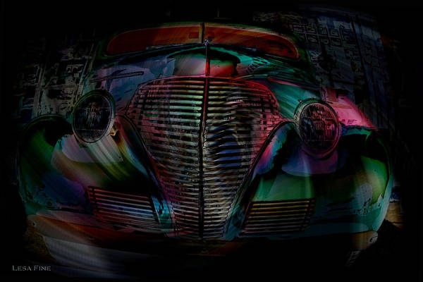 Photograph - 1939 Chevy In A Biubble Car Abstract by Lesa Fine