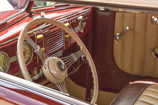 Photograph - 1939 Ford 4 Door Deluxe Convertible 5542.11 by M K Miller