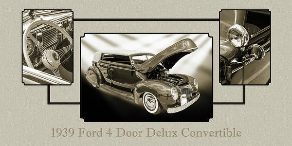 Photograph - 1939 Ford 4 Door Deluxe Convertible 5542.50 by M K Miller