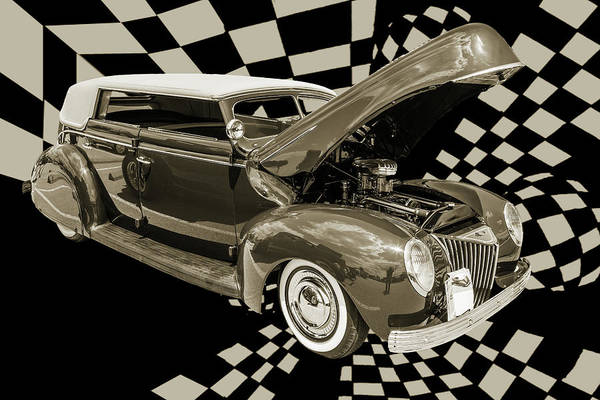 Photograph - 1939 Ford 4 Door Deluxe Convertible 5542.52 by M K Miller