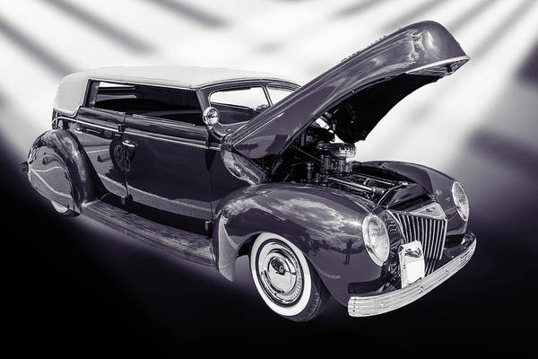 Photograph - 1939 Ford 4 Door Deluxe Convertible 5542.54 by M K Miller