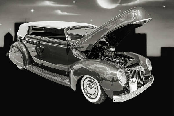 Photograph - 1939 Ford 4 Door Deluxe Convertible 5542.55 by M K Miller