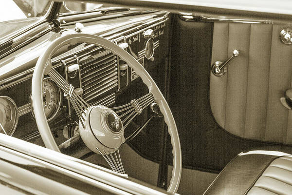 Photograph - 1939 Ford 4 Door Deluxe Convertible 5542.60 by M K Miller