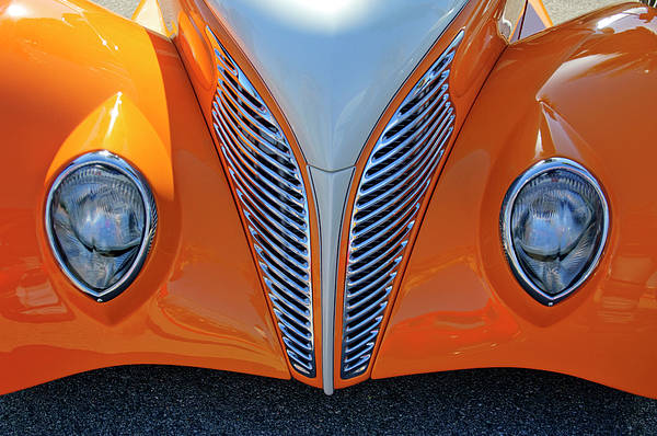 Photograph - 1939 Ford Hot Rod Cvt Grille by Jill Reger