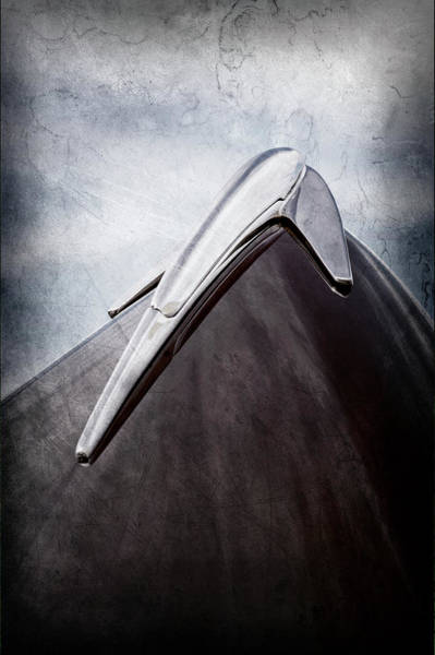 Wall Art - Photograph - 1939 Lincoln Zephyr Hood Ornament -0354ac by Jill Reger