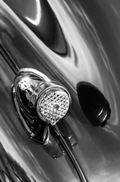 Photograph - 1939 Pontiac Silver Streak Chief Tail Light -712bw by Jill Reger