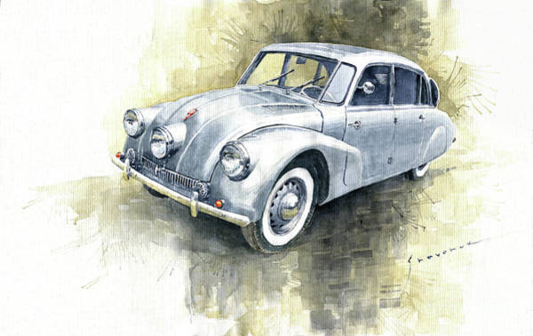 Wall Art - Painting - 1939 Tatra T87  by Yuriy Shevchuk