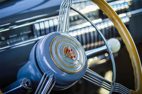 Photograph - 1940 Cadillac 60 Special Sedan Steering Wheel by Jill Reger