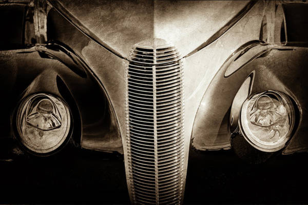 Wall Art - Photograph - 1940 Cadillac Lasalle Convertible Grille -0016s by Jill Reger