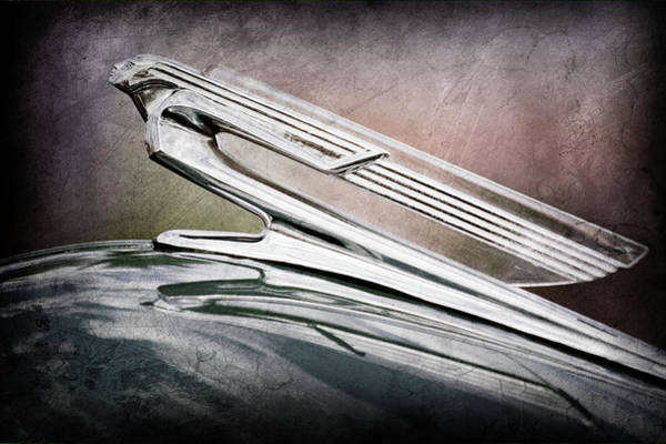 Wall Art - Photograph - 1940 Chevrolet Hood Ornament -0225ac by Jill Reger