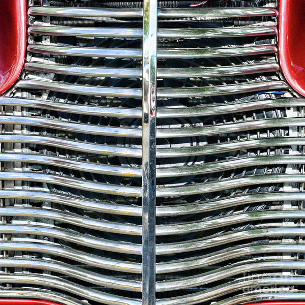 Wall Art - Photograph - 1940 Chevy Street Rod Grill Square by Paul Ward