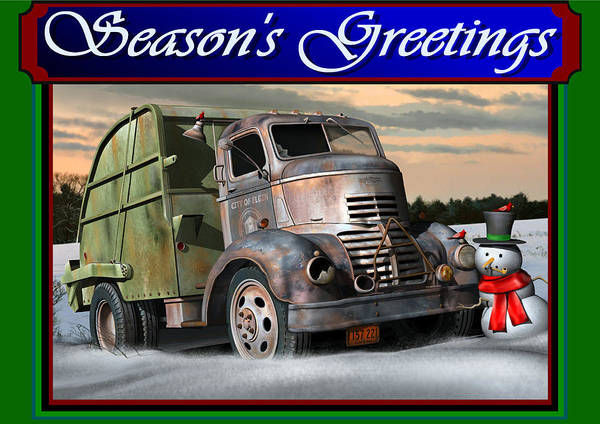 Wall Art - Digital Art - 1940 Gmc Christmas Card by Stuart Swartz