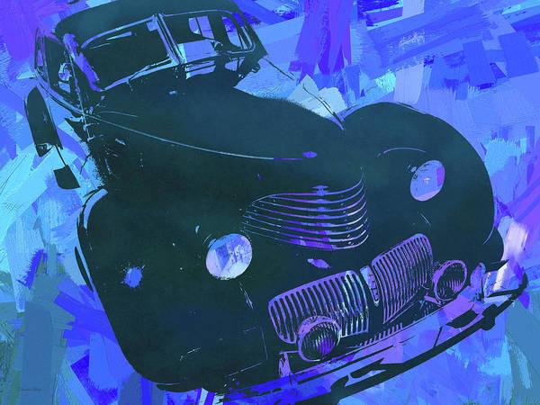 Digital Art - 1940 Hupp Skylark Blue Pop by David King
