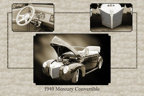 Photograph - 1940 Mercury Convertible Vintage Classic Car Painting 5236.01 by M K Miller