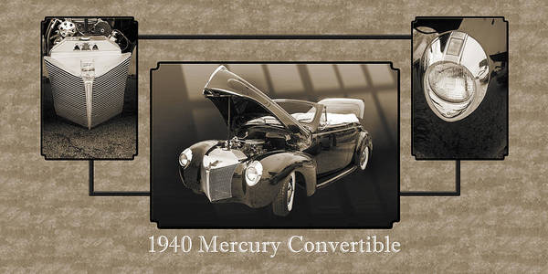Photograph - 1940 Mercury Convertible Vintage Classic Car Painting 5237.01 by M K Miller