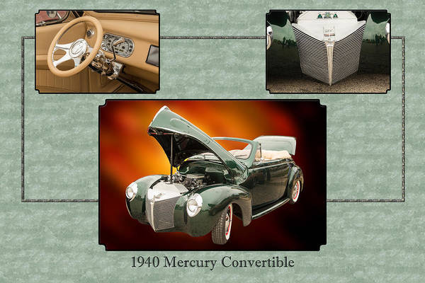 Photograph - 1940 Mercury Convertible Vintage Classic Car Painting 5238.02 by M K Miller