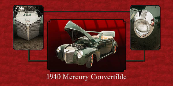 Photograph - 1940 Mercury Convertible Vintage Classic Car Painting 5239.02 by M K Miller