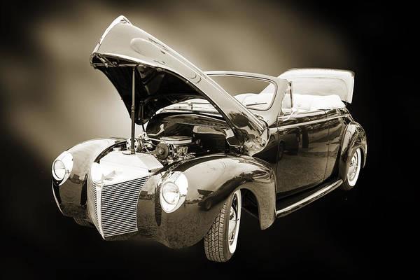 Photograph - 1940 Mercury Convertible Vintage Classic Car Photograph 5210.01 by M K Miller