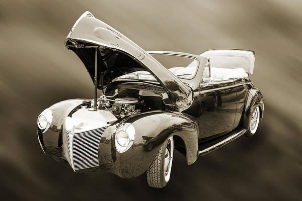 Photograph - 1940 Mercury Convertible Vintage Classic Car Photograph 5211.01 by M K Miller