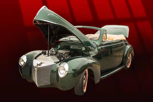 Photograph - 1940 Mercury Convertible Vintage Classic Car Photograph 5221.02 by M K Miller