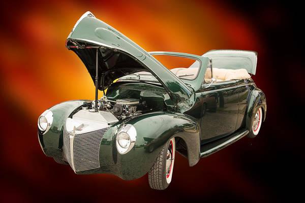 Photograph - 1940 Mercury Convertible Vintage Classic Car Photograph 5222.02 by M K Miller