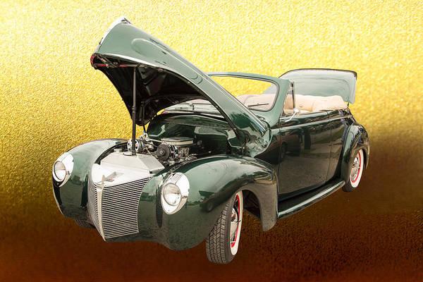 Photograph - 1940 Mercury Convertible Vintage Classic Car Photograph 5224.02 by M K Miller