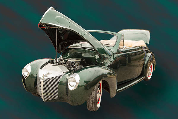 Photograph - 1940 Mercury Convertible Vintage Classic Car Photograph 5225.02 by M K Miller