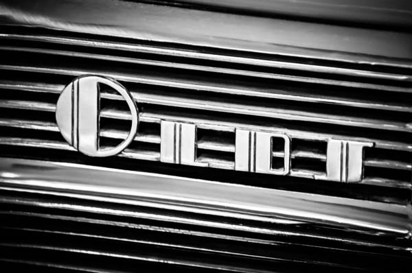 Photograph - 1940 Oldsmobile Emblem -0281bw by Jill Reger