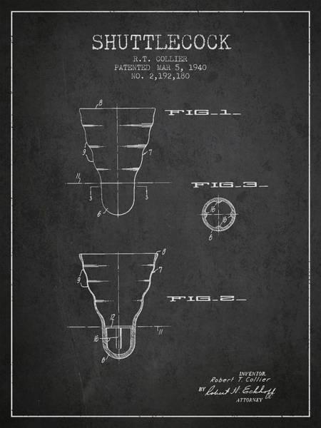 Wall Art - Digital Art - 1940 Shuttelcock Patent Spbm02_cg by Aged Pixel