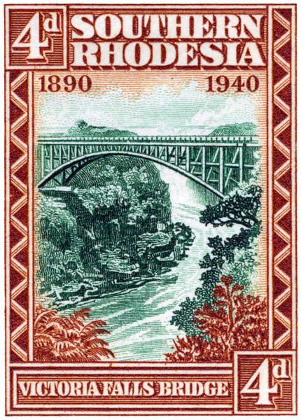 Victoria Falls Painting - 1940 Southern Rhodesia Victoria Falls Bridge  by Historic Image