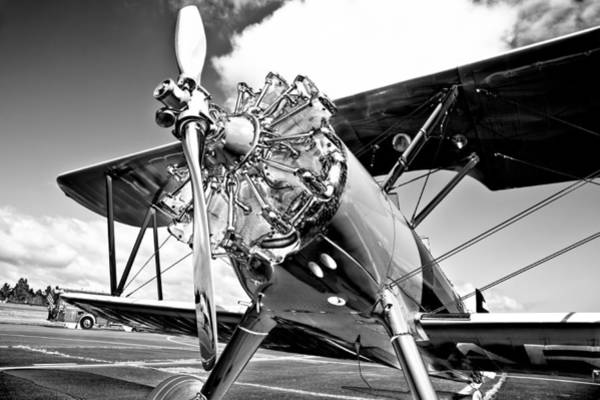 Radial Engine Photograph - 1940 Stearman Biplane by David Patterson