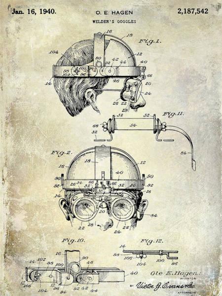 Goggles Wall Art - Photograph - 1940 Welders Goggles by Jon Neidert