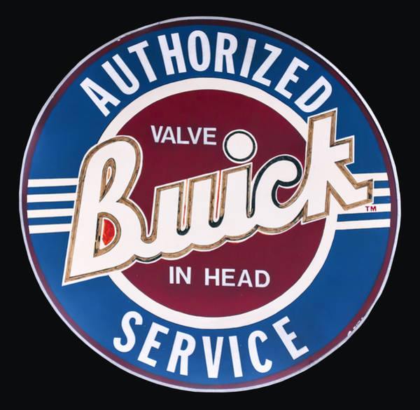 Digital Art - 1940's Buick Porcelain Sign by Chris Flees