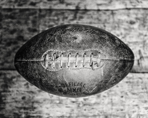 Wall Art - Photograph - 1940s Macgregor Mcg Intercollegiate Football In Black And White  by Lisa Russo