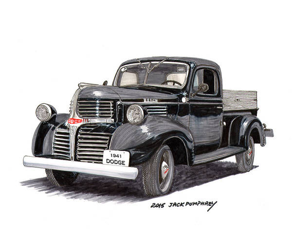 Become One Wall Art - Painting - 1941 Dodge W C Half Ton Pick Up by Jack Pumphrey
