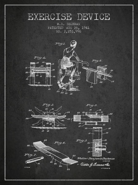 1941 Exercise Device Patent Spbb10_cg Art Print