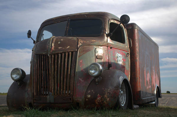 Photograph - 1941 Ford Coe Milk Truck by Tim McCullough