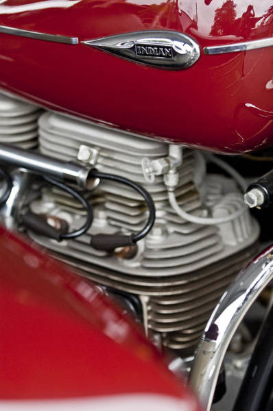 Photograph - 1941 Indian 4 Cyl Motorcycle by Jill Reger
