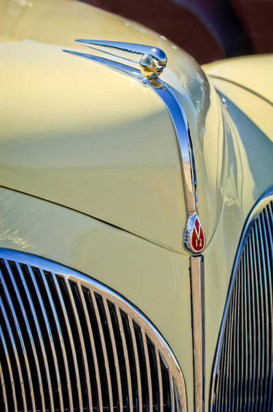 Photograph - 1941 Lincoln Continental Cabriolet V12 Grille by Jill Reger