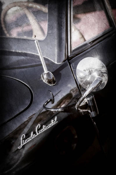 Wall Art - Photograph - 1941 Lincoln Continental Convertible Emblem -0507ac by Jill Reger