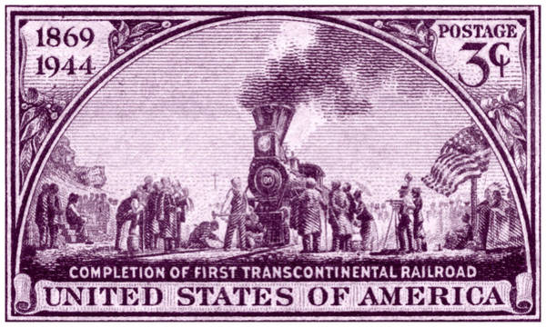 Vintage Railroad Painting - 1944 Transcontinental Railroad by Historic Image